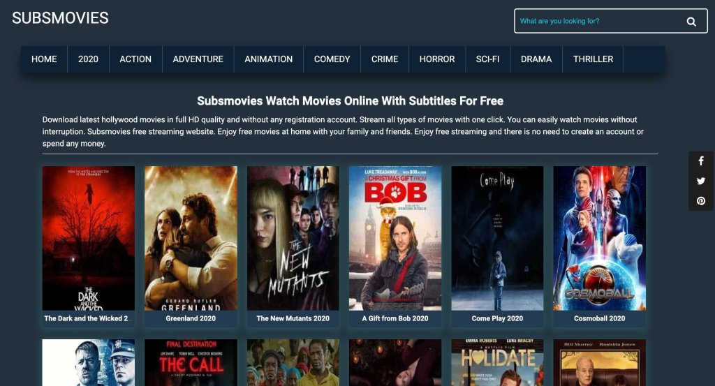 Subsmovies - Best Flixtor Alternatives